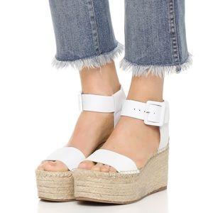 VINCE Abby Platform Espadrille Wedge Sandal White